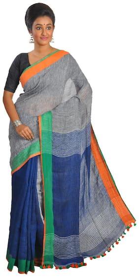 Khadder Handloom Linen Saree
