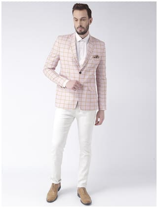 hangup checkered mens blazer size:36