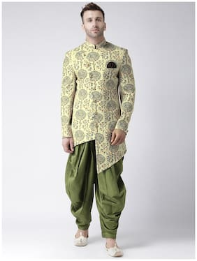 Men Printed Regular Fit Sherwani ,Pack Of 1