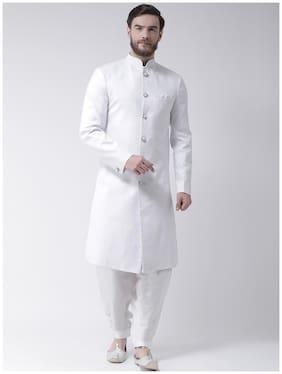 Men Solid Regular Fit Sherwani
