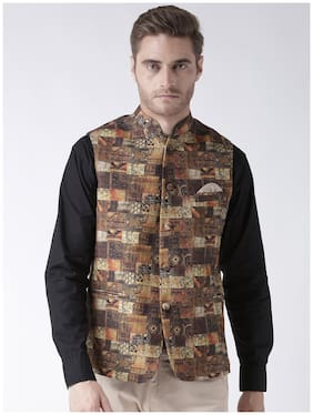 Hangup Men Cotton Regular Fit Waistcoat - Multi