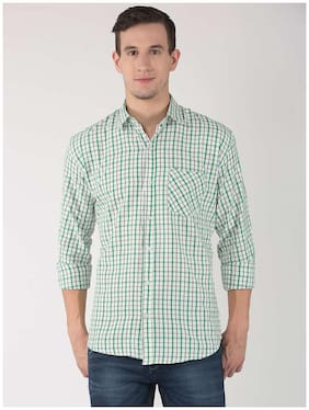 Hangup Men Slim Fit Casual shirt - Green
