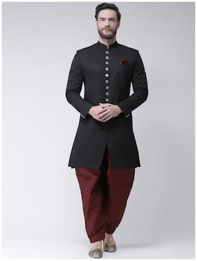 Men Solid Regular Fit Sherwani
