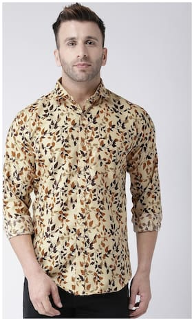 Men Slim Fit Floral Casual Shirt