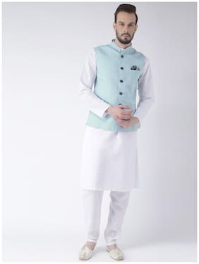 Hangup Mens 3 Pics Kurta Pajyma Set With Linen Basket