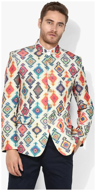 hangup printed blazer for daily use