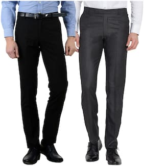HAOSER Men Slim Fit ( Slim Fit ) Formal Trouser - Multi