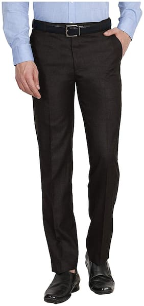 Haoser Mens Black TrouserHaoser Formal Pants for mens Slim fit is Ideal for Business Meetings Conferences Perfect for every day office wear Black Trouser For Men