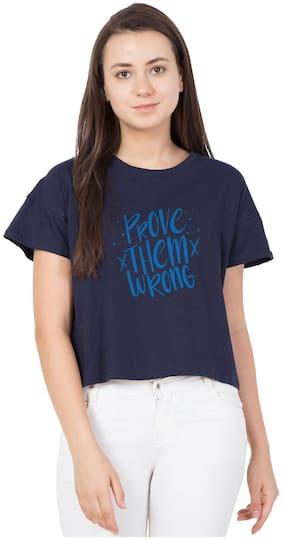 HAOSER Women Cotton Printed - Regular top Blue