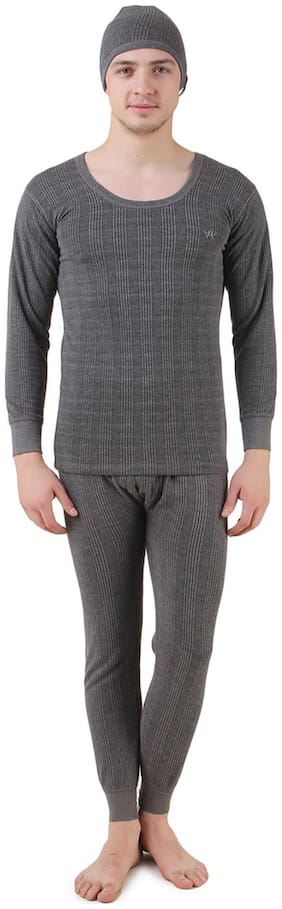 Hap Men Polyester Thermal set - Grey