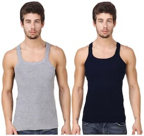 Hap 2 Sleeveless Square Neck Men Vest - Multi