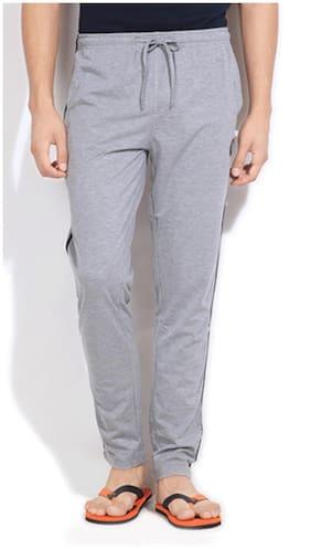 Happy Hours Men Cotton Solid Pyjama - Grey