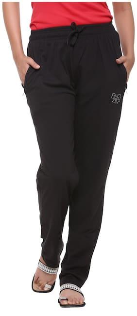 HARDIHOOD Women Cotton Solid Pyjama - Black