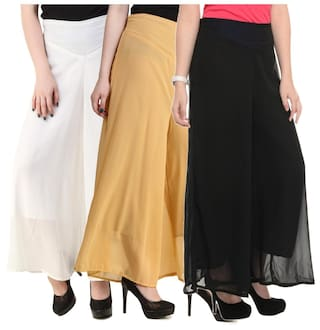 Hardy's for New Women Georgette Fashion Plazzo Collection 4PHUq4n6