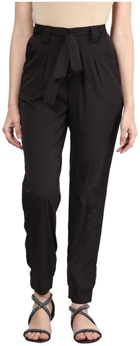 Harpa Black Crepe Trouser - GR2752BLACK-28
