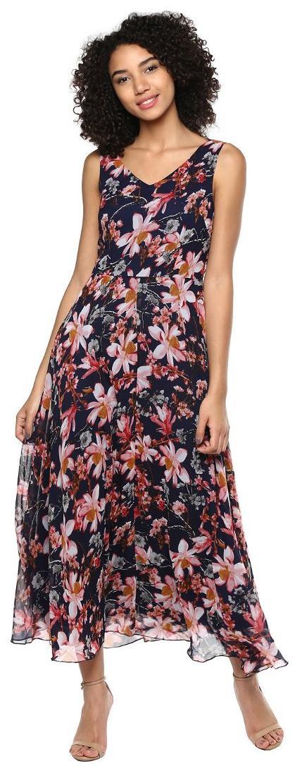 44b5cfecd https   assetscdn1.paytm.com images catalog product . Harpa Floral Printed  Navy Maxi Dress