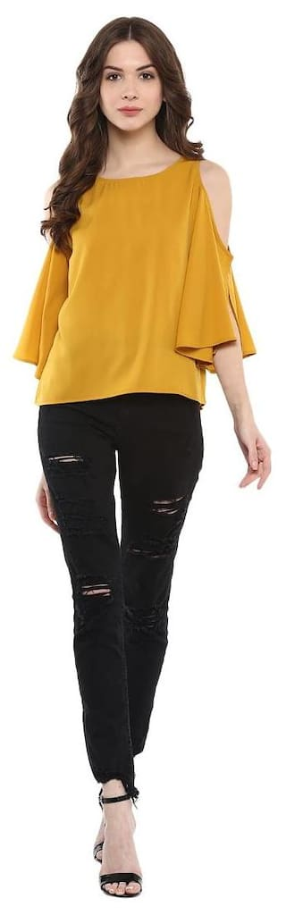 Harpa Mustard Regular Solid Tops