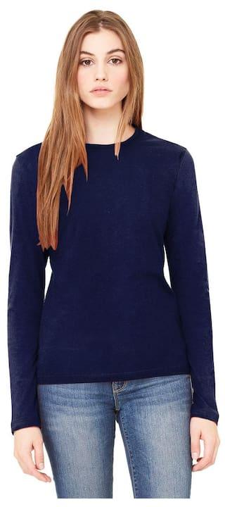 8a50ea9458c3 Harshita Creation Fancy & Designer Round Neck Full Sleeve Tops T-Shirt for Women  Girls