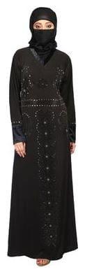 Hawai Modish Black Lycra Abaya for women