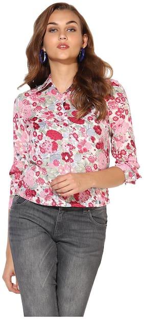 HEATHER HUES Women Regular Fit Floral Shirt - Pink