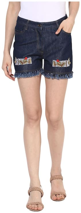 HEATHER HUES Women Solid Shorts - Blue