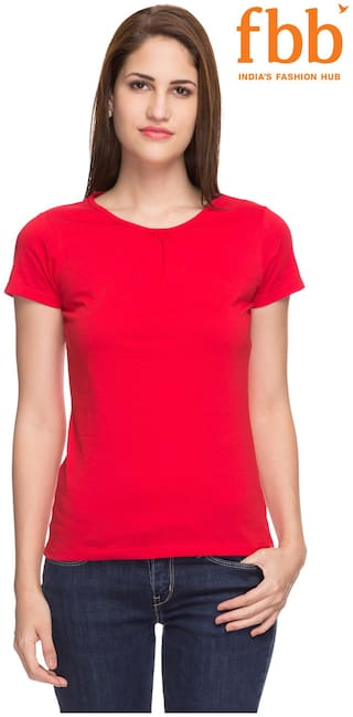 be7779dfb50e Buy Hey Red Women's T Shirt Online at 40% off. |Paytm Mall