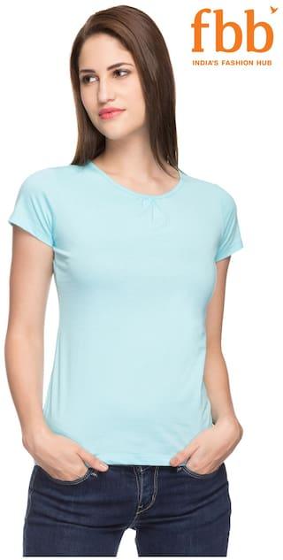 Women Solid s Shirt Blue T Hey EyXQCsje