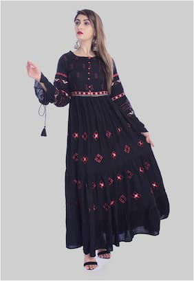 Women Embroidered Anarkali Kurta ,Pack Of 1