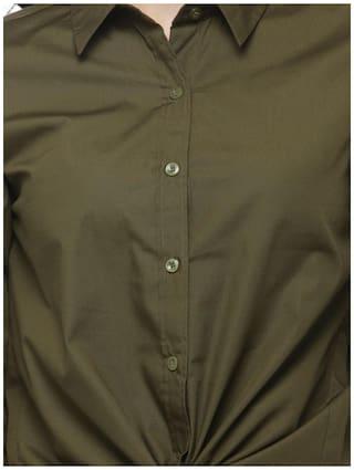 Hive91 Shirt Green Olive Zinda Hai Style Tiger Katrina for Women Color kaif Crop r5IxXqwr