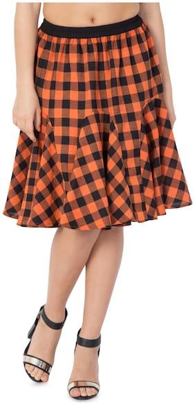 Hive91 Printed A-line skirt Midi Skirt - Multi