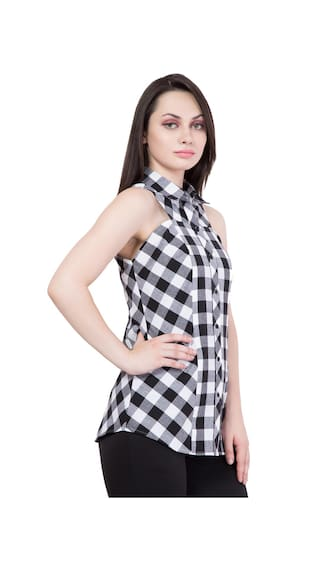 White Hive91 Women for Black Checkered and Shirts Bw6qag