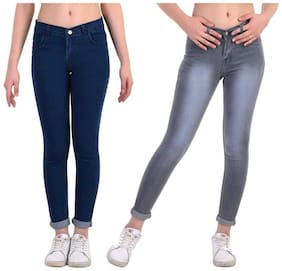 Women Straight Fit Jeans Pack Of 2