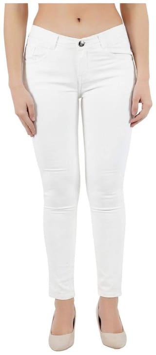 HMFURRYS FINEST Women White Slim fit Jeans