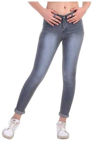 HMFURRYS FINEST Women Grey Slim fit Jeans