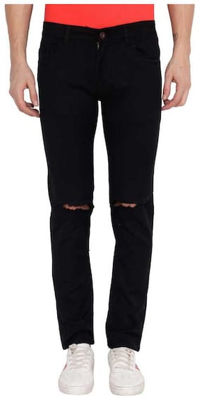 Men Regular Fit Mid Rise Jeans Pack Of 1