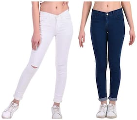 Women Straight Fit Jeans ,Pack Of Pack Of 2