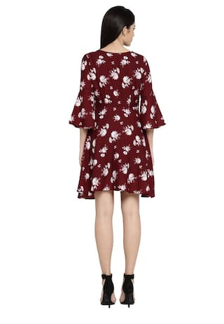 Pantaloons Red Honey Regular by S Dress Polyester Fit Women qApCw5a
