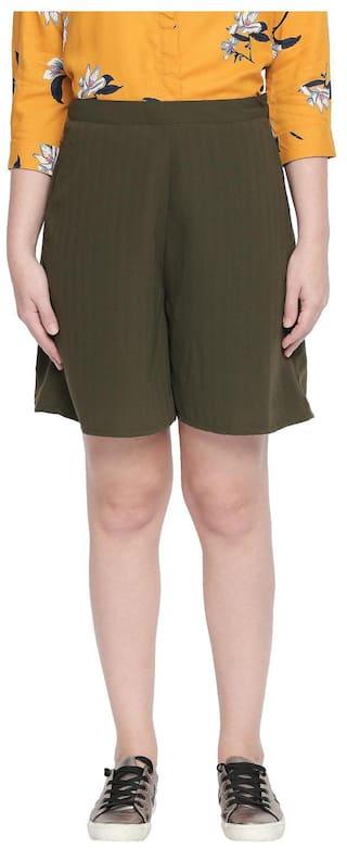 Honey By Pantaloons Solid A-line skirt Midi Skirt - Green
