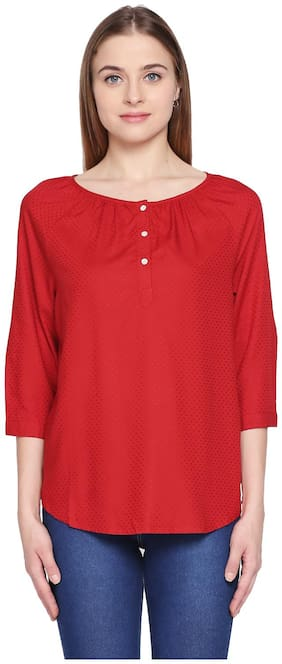 Women Solid Round Neck Top ,Pack Of 1