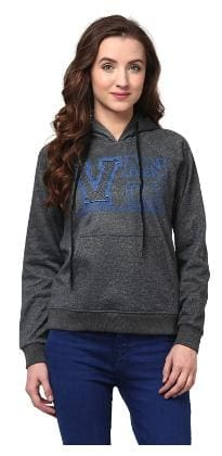 f676e50b65 Hooded Sweatshirt In Grey Color With V Patch