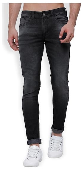 Horsefly Men Mid Rise Tapered Fit ( Slim Tapered ) Jeans - Black