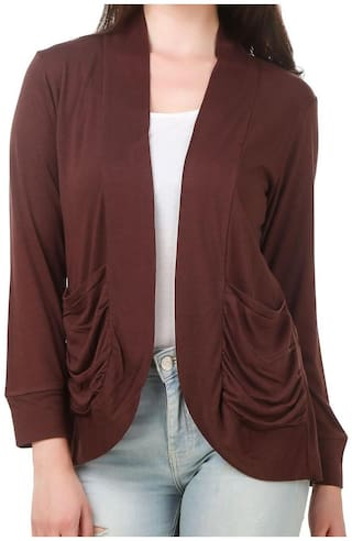 FAIRIANO Women Shrug - Brown