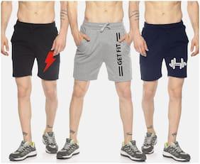 Men Printed Regular Shorts Pack Of 3