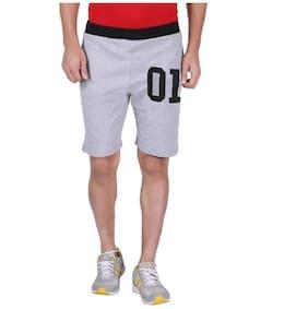 Hotfits Graphic Print Men's Grey Basic Shorts