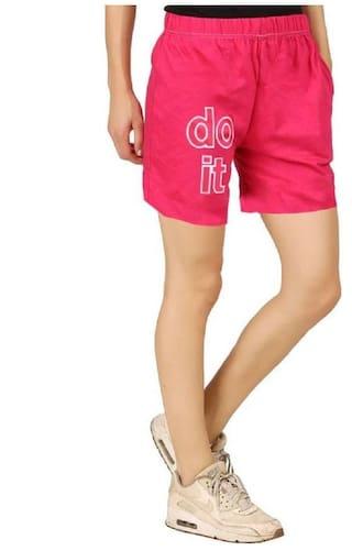 Graphic Basic Shorts Black Women's Print Hotfits OdHTqT