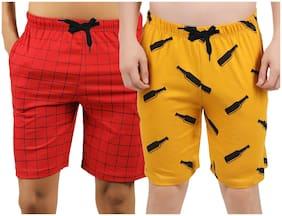 Men Printed Regular Shorts Pack Of 2