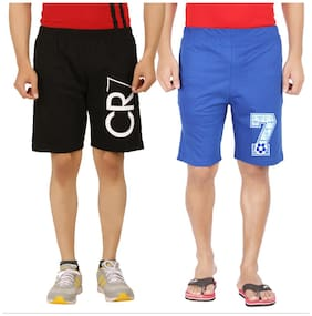 Men Printed Regular Shorts ,Pack Of Pack Of 2