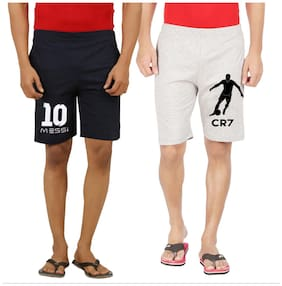Men Grey Regular Fit Regular Shorts