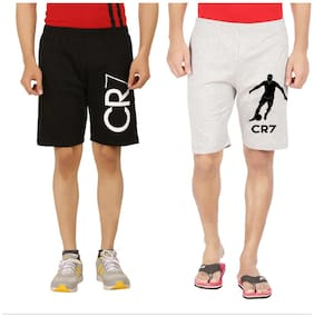 Men Solid Regular Shorts ,Pack Of Pack Of 2