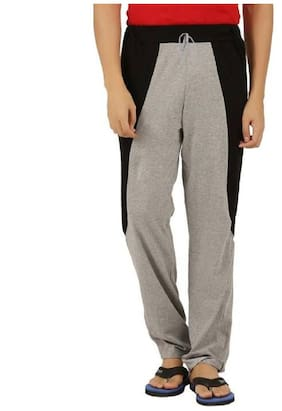 HOTFITS Men Cotton Blend Track Pants - Brown